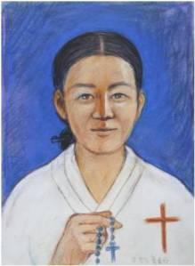 Beata Kolumba Kang Wan-suk (Sumber: koreanmartyrs.or.kr)