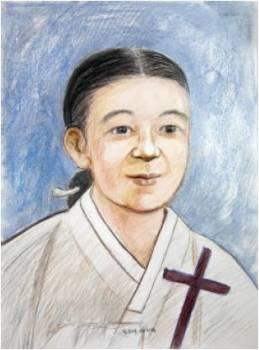 Beata Agatha Han Sin-ae (Sumber: koreanmartyrs.or.kr)