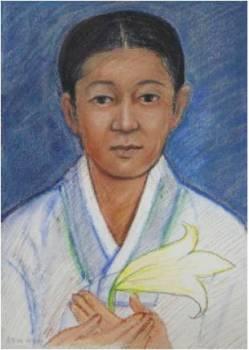 Beata Agatha Yun Jeom-hye (Sumber: koreanmartyrs.or.kr)