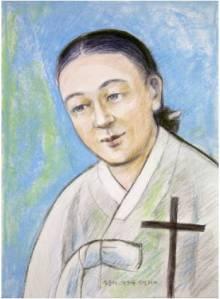 Beata Agatha Magdalena Kim Yun-deok (Sumber: koreanmartyrs.or.kr)