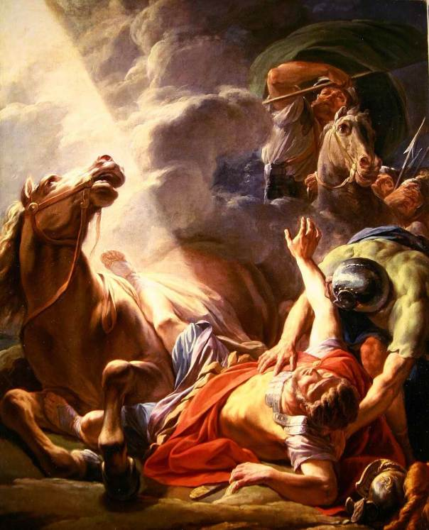 Pertobatan St. Paulus / The Conversion of St. Paul, 1767 oleh Nicolas-Bernard Lepicie (Sumber: vocations-syracuse.org)