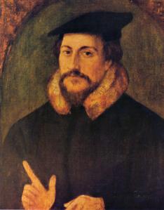 Lukisan John Calvin oleh Holbein (Sumber: wikipedia.org)